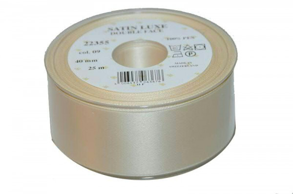 Band Satin 22355/40mm 25m, 009 creme