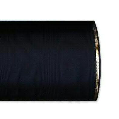 Kranzband 4422/175mm 25m Moire Goldrand, 210 schwar