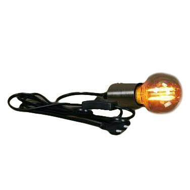 Kabel mit Fassung 300cm E27 indooor Fassung 6x4,2cm mit Schalter IP20, silber