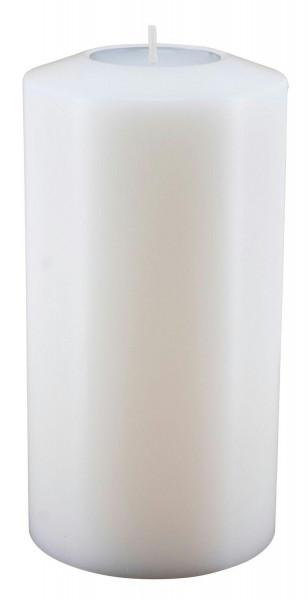 Lux Classic D8H18cm Teelichthalter, weiß