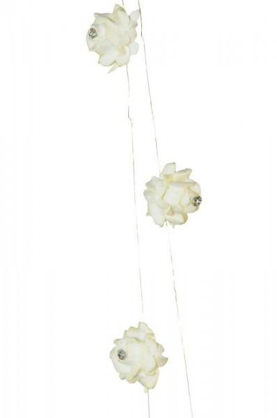 Blütengirlande D2,5L1m 10St., weiß