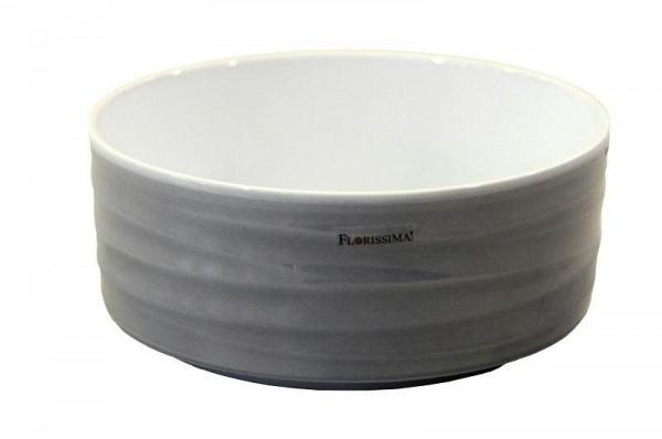 Schale Keramik 902/20cm Wave, Lasur grau