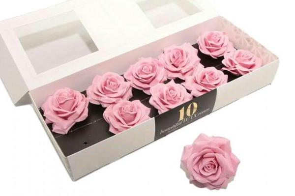 Wachsrose D10cm wasserfest, rosa