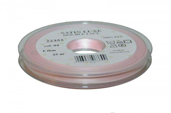 Band Satin 22355/06mm 25m, 004 h.rosa