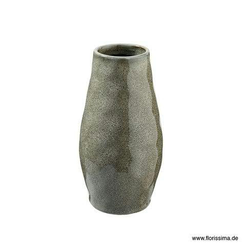 Vase Keramik D9,5H18cm, grau