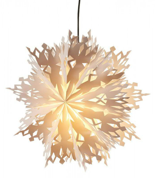 Ornament Lampe 55cm mit Kabel E14 out, weiß