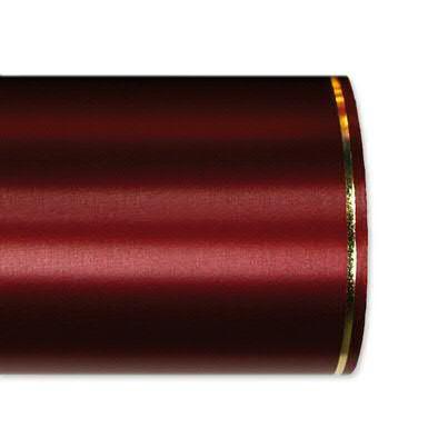 Kranzband 2501/125mm 25m Satin Goldrand, 765 weinro