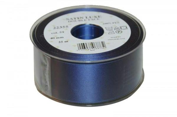 Band Satin 22355/40mm 25m, 059 m.blau