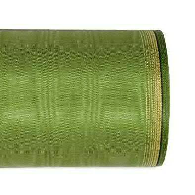 Kranzband 6694/175mm 25m Moire Goldrand, 643 moosgr
