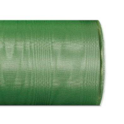 Kranzband 4422/075mm 25m Moire Goldrand, 206 grün