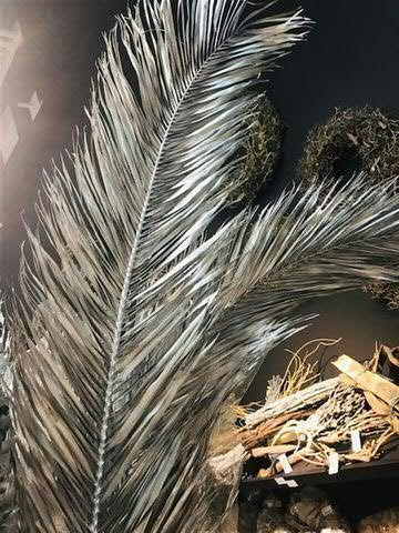 Palmwedel 170cm, silber