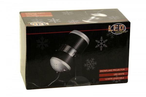 LED Projektor Schneeflocken indoor 12x10,5cm