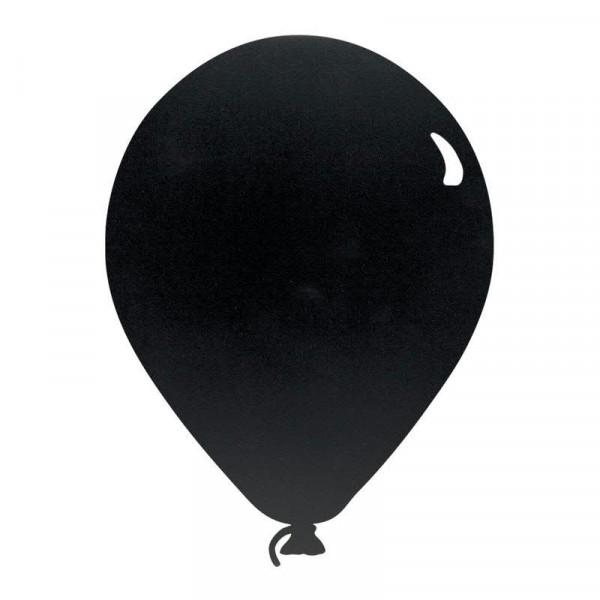 Kreidetafel Ballon 39,6x29cm inkl. 1 Kreidestift + Wandmontageset, schwarz