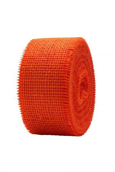 Juteband 60mm 25m, orange