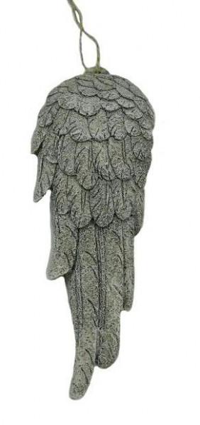 Flügel Poly 26x10cm, grau