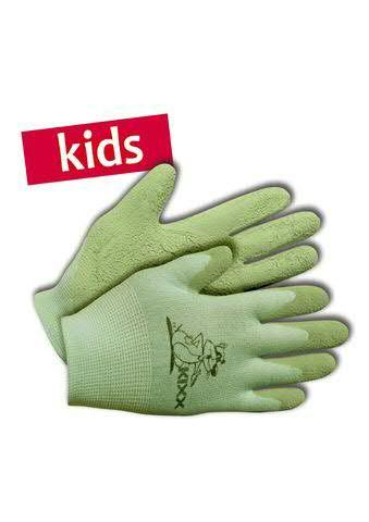 Kinderhandschuhe Gr.04 Nylon/Latex, grün
