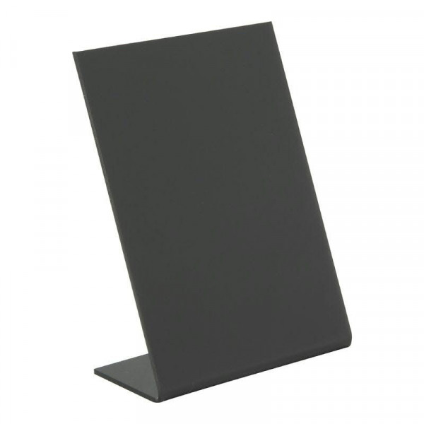Tischkreidetafel L-Form A7 S/5 stapelb 11,5x7,5x4,5cm, schwarz