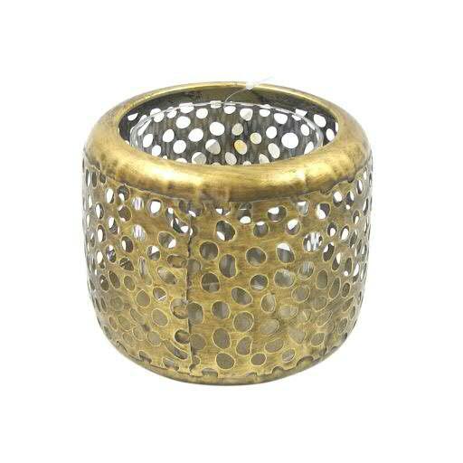 Windlicht Metall D9,5H7,5cm, antik gold