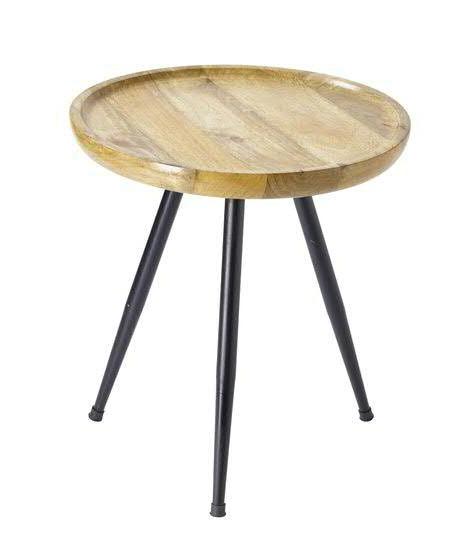 Tisch Holzmetall 43x46cm Schwnatur Tische Möbel Sortiment